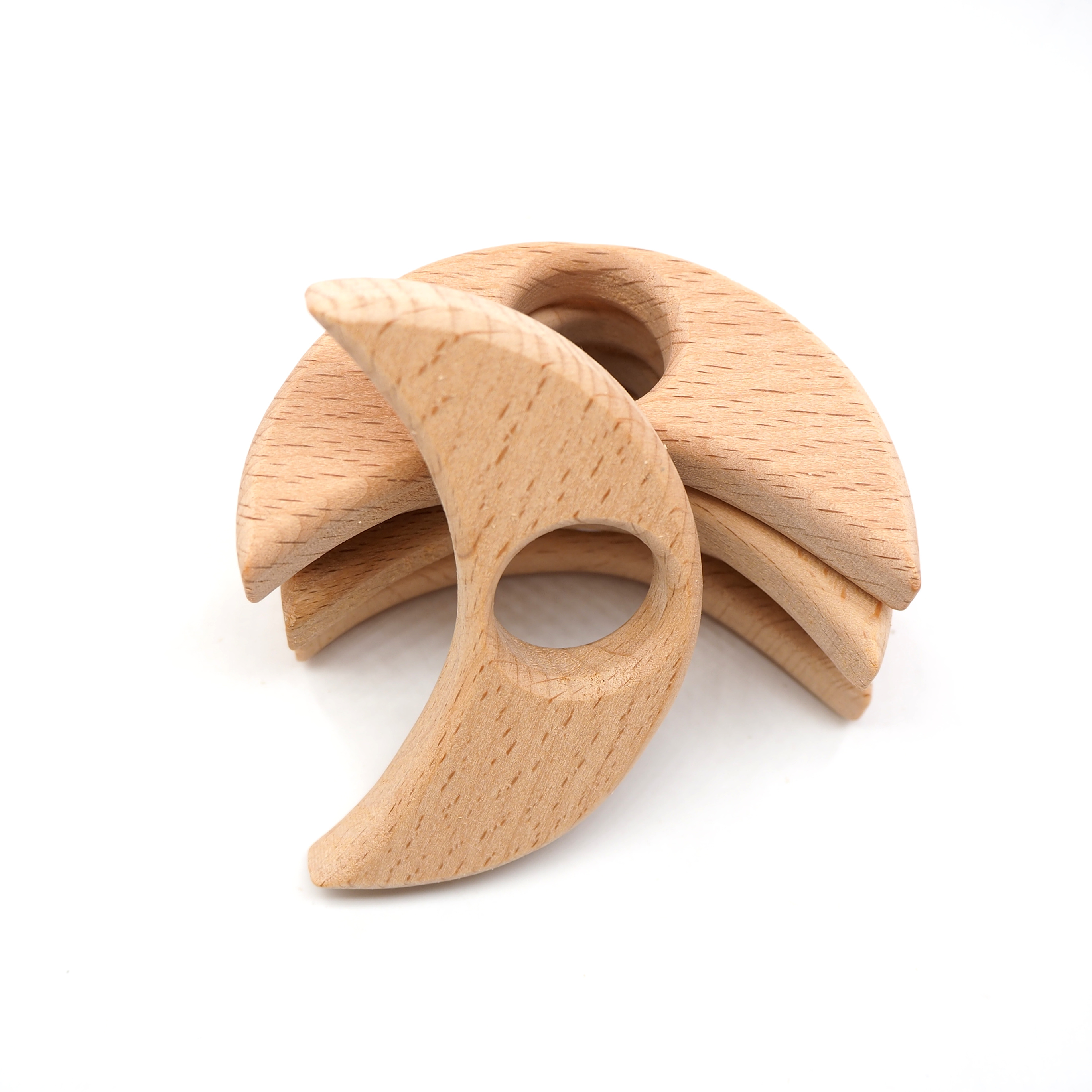 1PC//7PCS SET Wooden Animal Bird Ring Baby Handmade Natural Shower Gift Teether