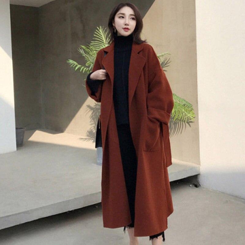 Femmes manteau de laine Slim à manches longues Cardigan Trench manteau vestes d'affaires Top NYZ boutique