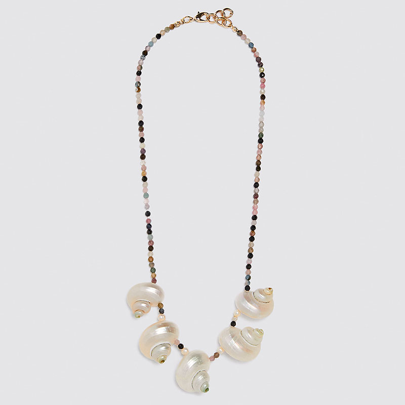 Shell Beads Tassel Statement Necklace Women Colorful Beaded Chain Pendant Necklace Lady Choker Collar Jewelry Wholesale Bijoux
