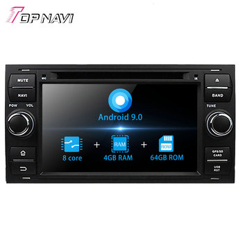Topnavi 7'' Octa Core Android 9.0 Car DVD Play For Focus Mondeo S-MAX Connect 2005 -2007 Autoradio GPS Navigation Audio Stereo image