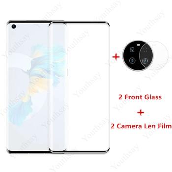 2PCS Per Huawei Mate 40 Vetro per Huawei Mate 40 Pro Vetro temperato Mate 30 30e P40 Pro Plus Pellicola salvaschermo per fotocamera Len Pellicola