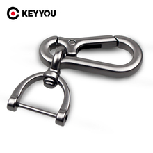 KEYYOU New Black silver Car Keychain Key Chain Auto Key Rings Interior Accessories Creative Gift For Car Styling
