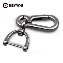 Keyyou 새로운 블랙 실버 자동차 키 체인 키 체인 자동 키 링 인테리어 액세서리 자동차 스타일링을위한 크리 에이 티브 선물