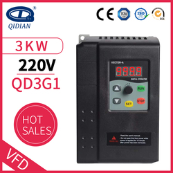 QD350 220V three-phase 3kw Water Pump Constant Pressure Water Supply Special Frequency Converter Universal vfd