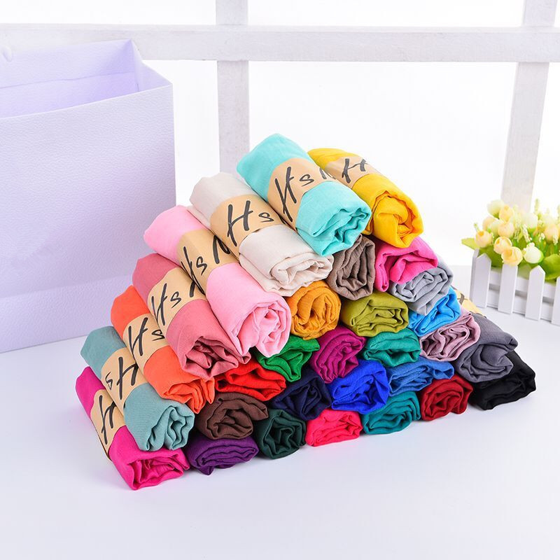 New Cotton Linen Scarf Solid Color Monochrome Candy Colored Silk Femme Scarf Women Gift Scarf Beautiful Scarves