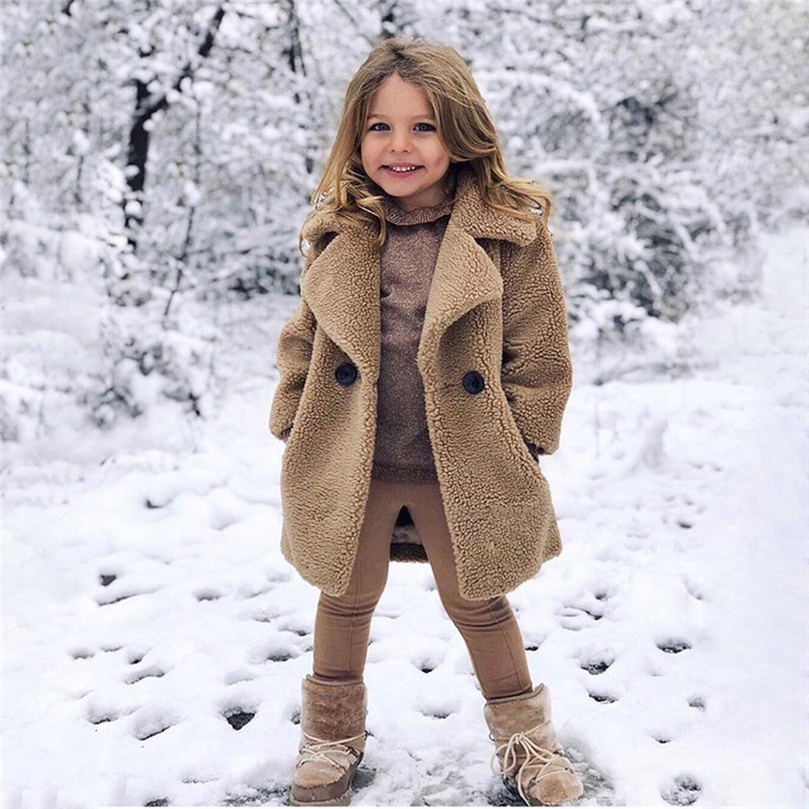 Детская одежда для малышей футболка с длинными рукавами для девочек зимнее однотонное ветрозащитное пальто утолщаются теплый карман Верхн...