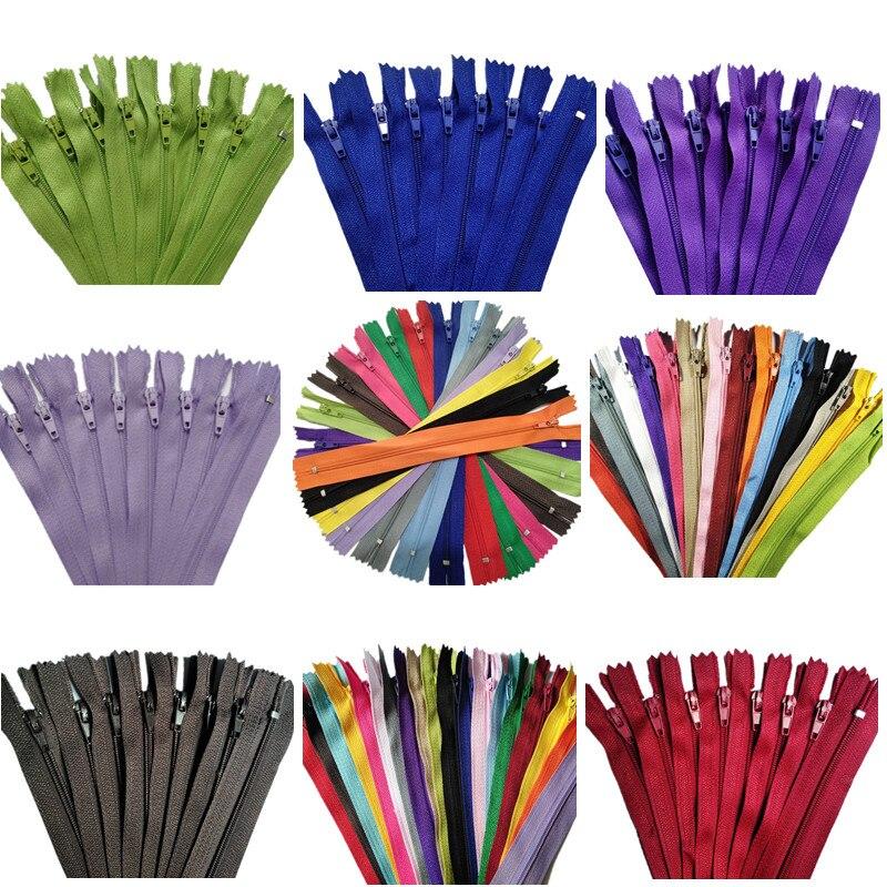 20 шт. 3 #(3-10 дюймов), 7,5-25 см, закрытая нейлоновая катушка на молнии, пошив по индивидуальному заказу, 20 цветов на выбор #