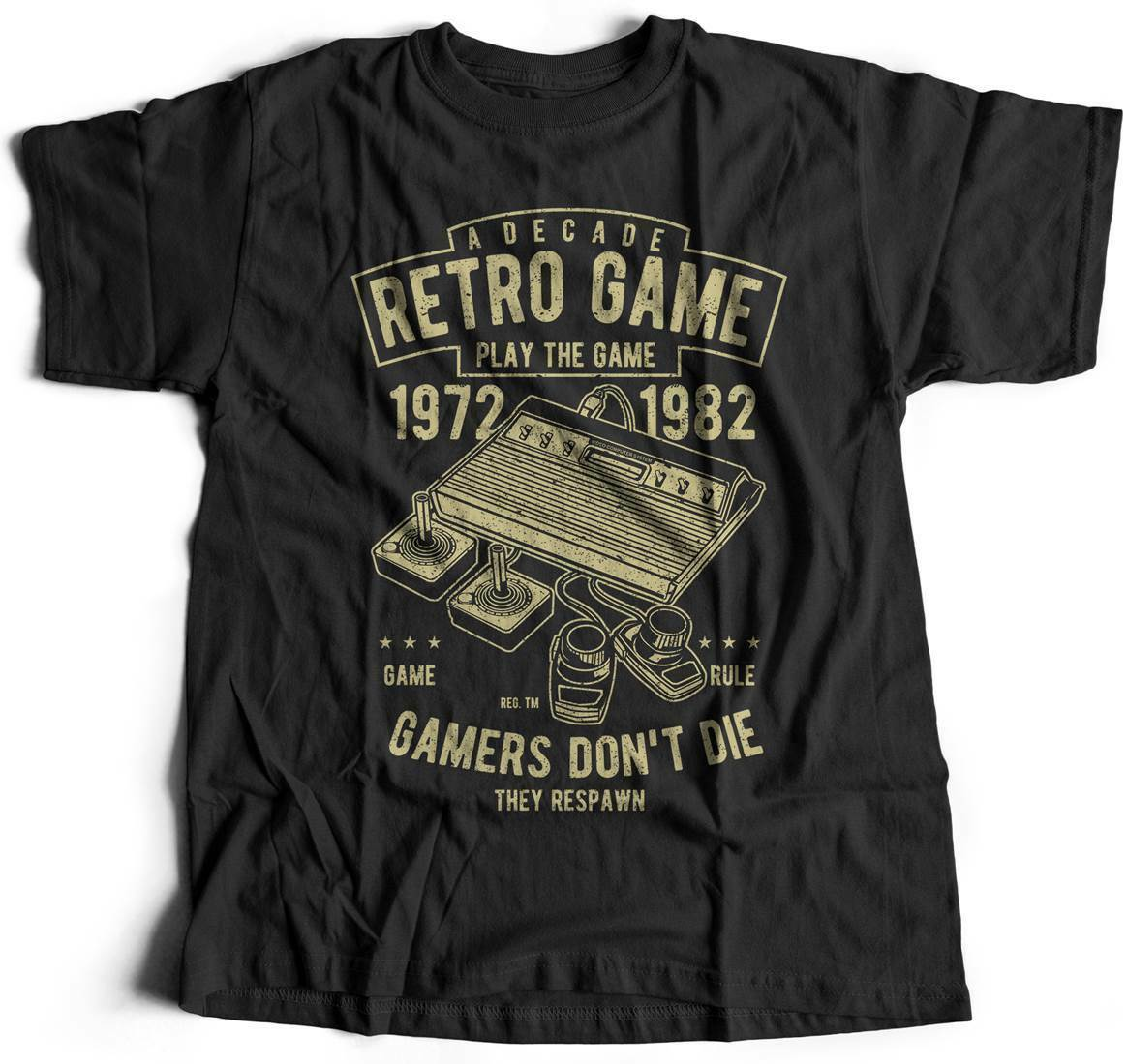 Retro Game Club Geek T-Shirt Legend Arcade Play Video Gamer Over Club Eat S A741 image