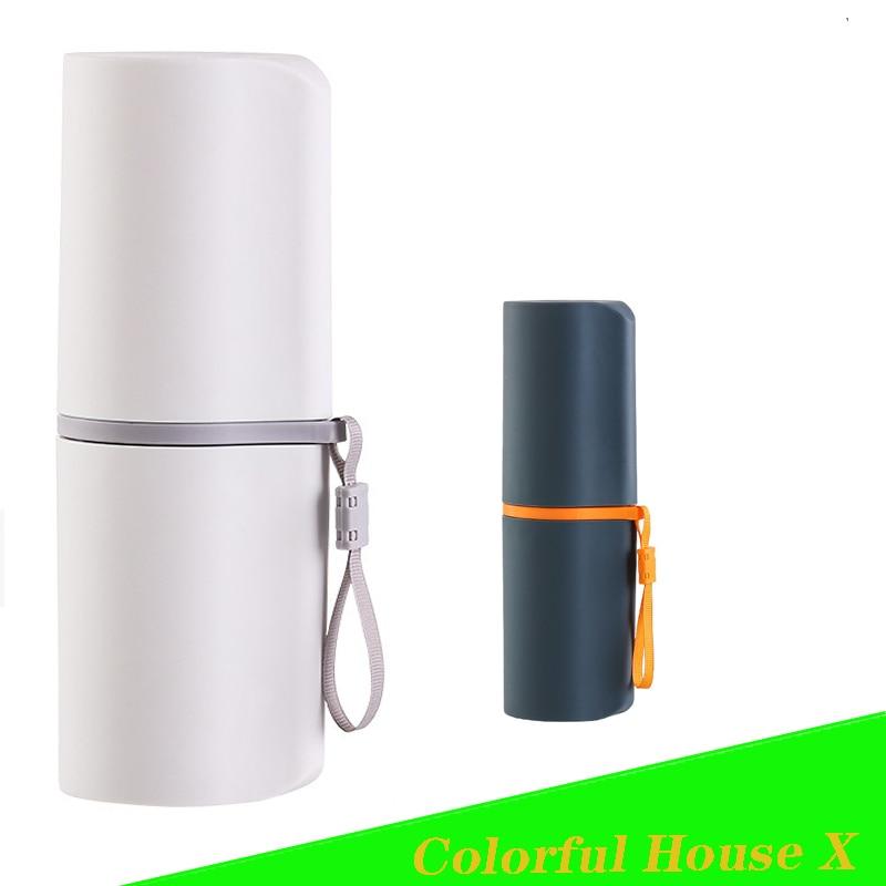 Portable Multifunctional Washing CupTravel Toothbrush Storage Box Large-Capacity Dental Cylinder Mouthwash Bottle Household Item