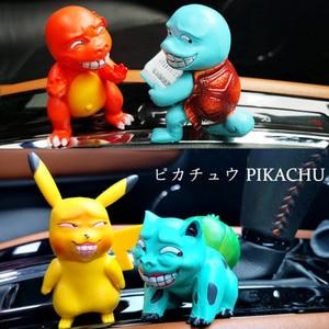 4 шт/лот аниме автомобиль орнамент мини Покемон Пикачу модель Забавная фигурка кукла интерьер автомобиля авто украшение подарок