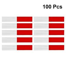 100pcs Truck Reflective Mark Sticker White and Red Safety Warning Mark Car Styling Tape Sticker Warning Strips yjzt 12cm 10 7cm danger biohazard sign warning mark personality car sticker reflective motorcycle parts c1 7558