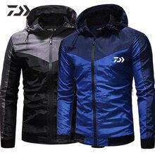 Daiwa одежда для рыбалки быстросохнущая Лоскутная Рыбацкая рубашка с капюшоном с длинным рукавом В походной рубашке дышащая мужская куртка