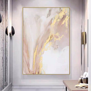 Hand painted Modern gold canvas Oil Paintings wall painting Abstract gold Oil Painting art picture Living Room home Decoration(China)