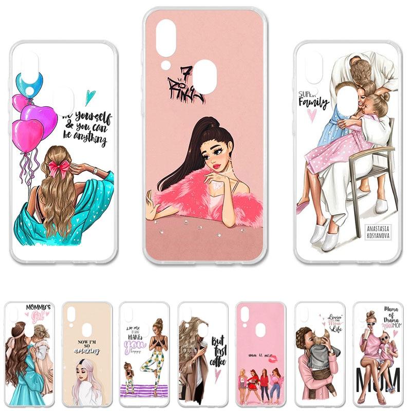 """Phone Case for Umidigi Umi digi A3 A3 Pro 5.7"""" Cover Cases Black Brown Hair Baby Mom Girl Queen Customer Umidigi A3 Bags"""