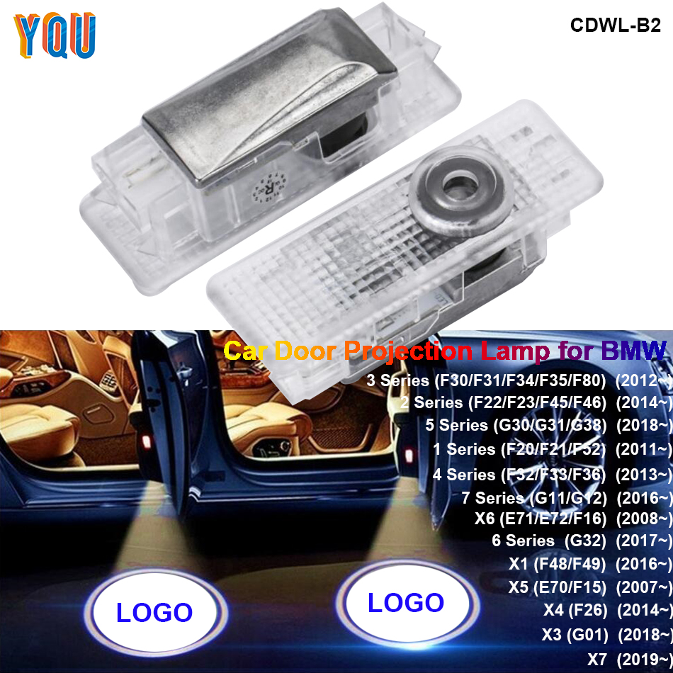 F20 F36 G30 X5 E70 F15 X6 E71 LED Door Welcome Projector Light F31 F21 F45 F32 F45 Auto Car Coche Logo Laser Lamp Lights For BMW