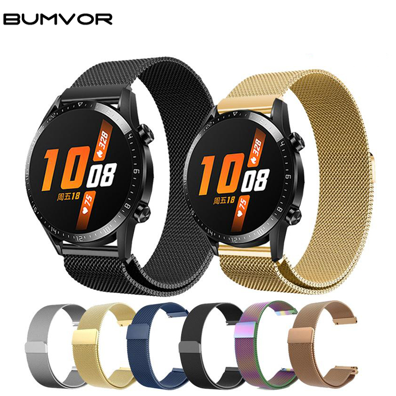 Milanese Band Strap For Samsung Galaxy Watch Active Gear S2 S3 Garmin 245 Amazfit GTR GTS Pace Bip 2 Stratos Huawei GT GT2 42mm
