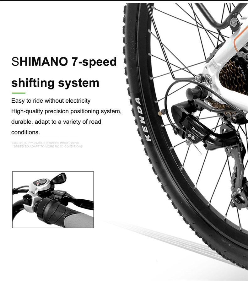 Sale 26inch Electric mountain bike 36V lithium battery travel electric bicycle lighweight Ebike 14