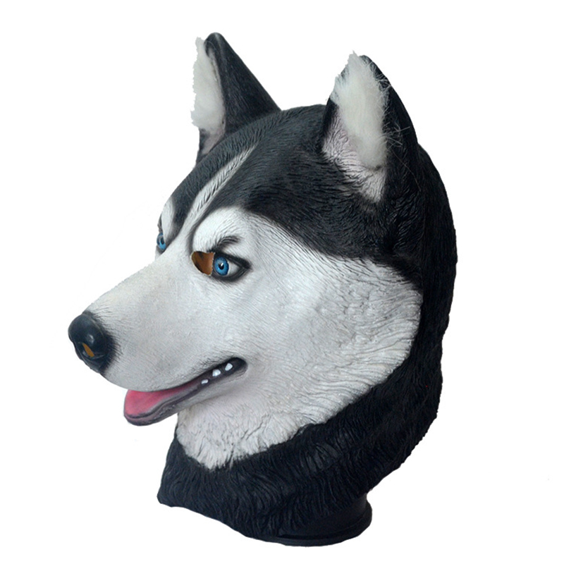 Halloween Trick Party Simulation Animal Husky Latex Mask Dog Head Environmental Protection Material Halloween Party Props 1