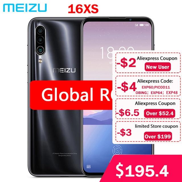 "Global ROM Meizu 16XS 6GB RAM 16 XS Smart Phone Snapdragon 675 6.2"" 48MP Triple Camera AI Front 16MP 4000mAh"