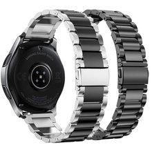 Ремешок из нержавеющей стали для samsung galaxy watch 42 46