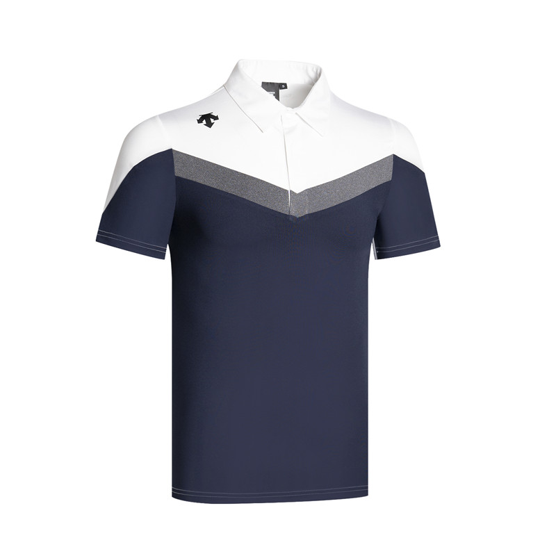 Q2020 Men Sportswear Short Sleeve DESCENTE Soft Quick-Drying Golf Polo Shirt Golf T-shirt Golf Clothes S-XXL In Choice Leisure