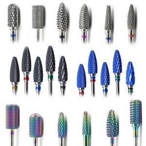 Image 1 - 29 тип ногтей сверла для электрической дрели маникюрный станок аксессуар красочные керамические фрезы Радуга карбид вольфрама