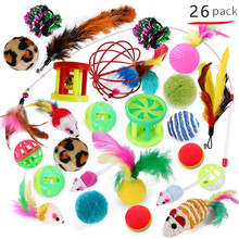 Cat-Toys-Set Bell-Ball Assorted Funny Kittens Creative