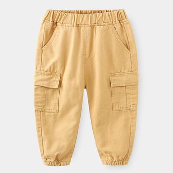 Wiosenne spodnie dla dzieci spodnie dla chłopców spodnie dla dzieci na co dzień dla chłopców spodnie dla niemowląt spodnie zimowe dla dziewczynek odzież dla dzieci 2-6Y tanie i dobre opinie Stranglethorn COTTON REGULAR Unisex Kieszenie Pełnej długości Pasuje prawda na wymiar weź swój normalny rozmiar Elastyczny pas