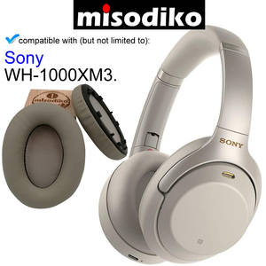 Image 5 - misodiko Replacement Ear Pads Cushion for Sony WH 1000XM3, Headphones Repair Parts Earpads with Clip Ring and Tuning Tone Cotton