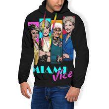 Golden Girls Felpa Con Cappuccio Miami Vice Felpe Oversize Lungo Lunghezza Pullover Con Cappuccio Outdoor Poliestere Bianco Felpe