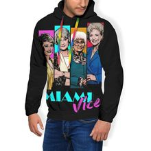 Golden Girls Hoodie Miami Vice Hoodies Oversize Long Length Pullover Hoodie Outdoor Polyester White Hoodies