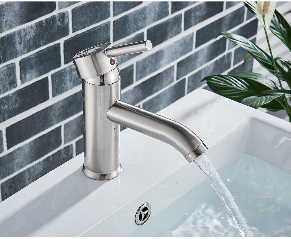 Hcde96d28db3d48418946ba3095658b46Q POIQIHY Bathroom Basin Faucets Cold/Hot Mixer Basin Sink Tap Black Golden Water Kitchen Faucet Bathroom Vessel Sink Tap One Hole