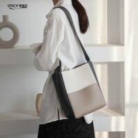 2020 new Korean bucket bags split leather Shoulder Bags for women top grade ladies Messenger Bag fashion female composite bags