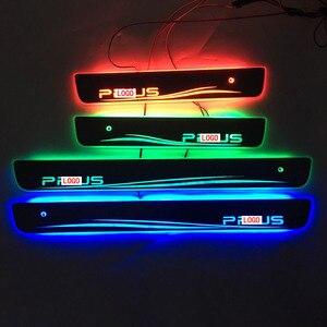 Image 4 - Carro estilo para toyota prius led peitoril da porta placa de chinelo pedal bem vindo limiar brilhante brilhante pedal para toyota prius