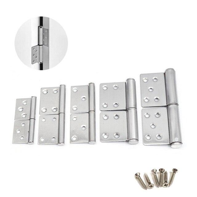 (1 pares) Em Aço Inoxidável Destacável dobradiça, 5 polegada Porta Dobradiça Ferragem Da Mobília (Parafusos Incluídos)