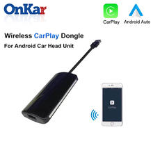 ONKAR Wireless CarPlay Dongle For Android Car GPS Navigation Mini USB Android Auto CarPlay Smart Link Support IOS Android android