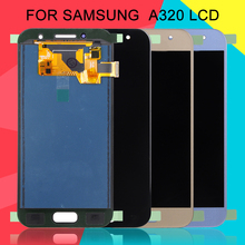 Dinamico A320 Lcd For Samsung Galaxy A3 2017 Lcd A320F Display With Touch Screen Digitizer Assembly Free Shipping+Tools ll trader black lcd display for samsung galaxy mega 6 3 i9200 touch screen digitizer bezel frame assembly tools free shipping