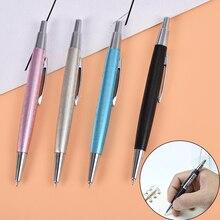 Cute Mini Metal Pencil 0.7/0.5mm Black Yellow Pink Blue Short Student Writing Mechanical Automatic Pencil Random Color