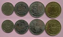 4 قطعة عملات معدنية Spitzbergen عملة 1993 سنة عملة أصلية لم يتم تعميمها