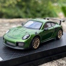 Литая в масштабе 1:64 оригинальная модель автомобиля 911, коллекционный автомобиль из сплава металла, сувенирная демонстрация игрушек, украше...