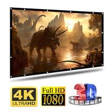 16:9 גובה צפיפות נייד מתקפל Sotf מסך בית חיצוני KTV משרד 3d HD מקרן מסך הקרנת מסך בית Beamer