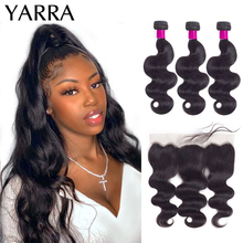 Body-Wave-Bundles Frontal Yarra with On-Sale Remy-Hair Pre-Plucked Brazilian 13x4