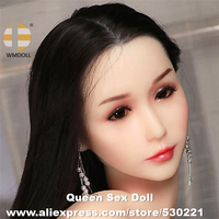 WMDOLL Top Quality Sexy Realistic Sex Dolls Head Japanese Real Love Doll Heads Oral Sex Toy For Men