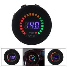 DC 12V Car and motorcycle waterproof blue LED digital display voltmeter switchboard voltage VOLT meter specification стоимость
