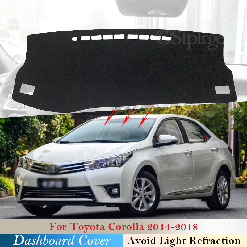 Dashboard Cover Protective Pad for Toyota Corolla E170 E160 2014 2015 2016 2017 2018 Car Accessories Dash Board Sunshade Carpet