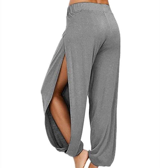 Merry Pretty Summer High Slit Haren Pants Women Solid Hippie Harem Wide Leg Pants Trousers S-3XL 4