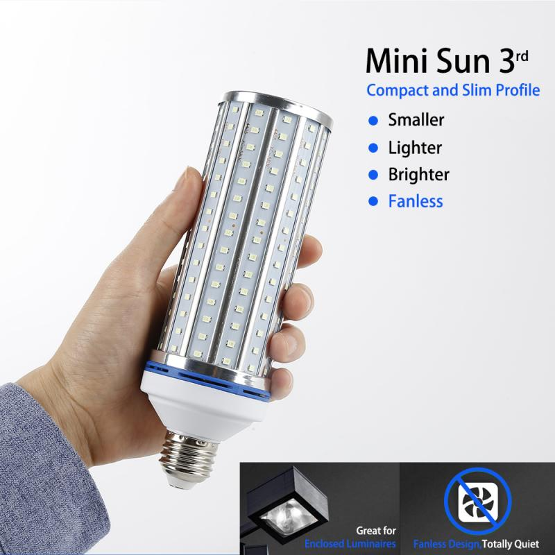 Newest 60W UV Germicidal Light LED UVC Light Bulb Room E27 Lamp Remote Control Timing Killing 99% Air Mite 110V