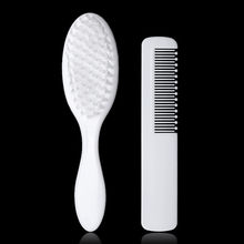 Baby Girls Boys White Baby Hairbrush Headwear Newborn Hair Brush Infant Plastic Comb Head Massager Toddler Hair Comb Brushes(China)