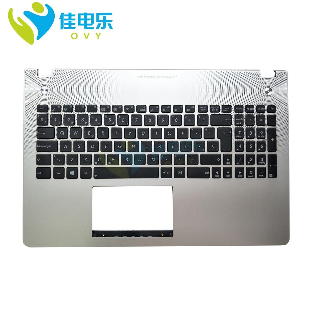 N56 Laptop Keyboard For Asus N56v N56vv N56vb N56vz N56JR N56vm Spain SP Backlit Palmrest Top Case 90NB06D5-R31SP0