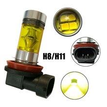 1 pair H8 H11 4300K 12V Car Headlight accessories 20led Fog Lights Bulbs Universal Yellow LED lamp Daytime Running light